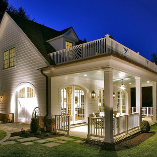 Elegant porch photo in DC Metro with a roof extension
