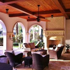 Mediterranean Porch by tuthill architecture