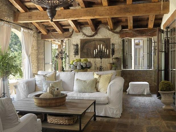 Shabby-chic Style Porch Mediterranean Porch