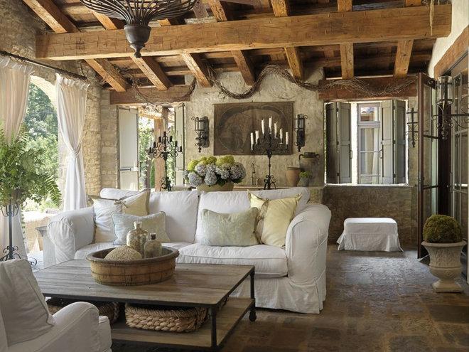 Mediterranean Porch by Amy Studebaker Design