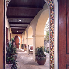 Mediterranean Porch by David-Michael Design,Inc.
