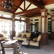 Traditional Porch by Petrillo Architecture