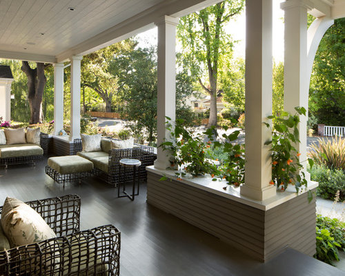 Perfect Large Classic Front Porch Idea In San Francisco With Decking And A Roof  Extension