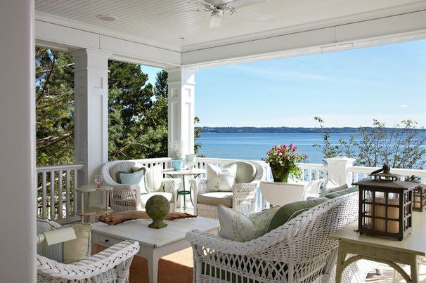 Traditional Porch by Tom Stringer Design Partners