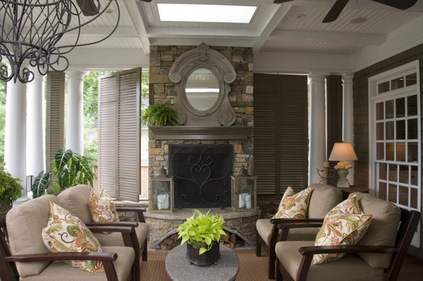 Traditional Porch by Castro Design Studio