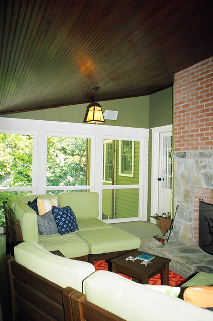 Eclectic Porch by Rob Sanders Architects LLC