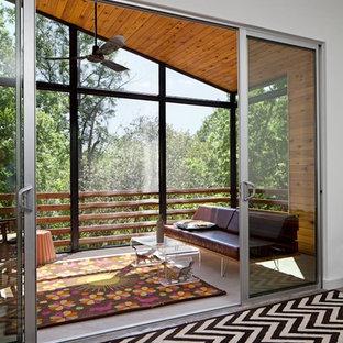 Idéer för att renovera en funkis veranda, med takförlängning