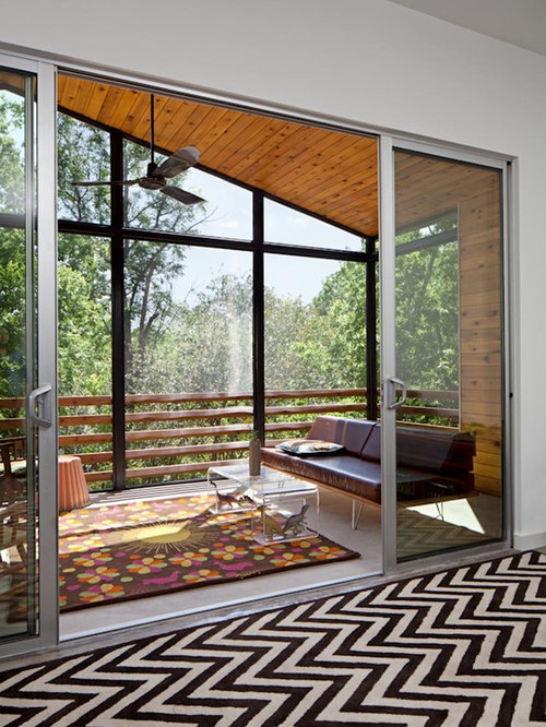 Glass enclosed balcony home design ideas pictures for Modern glass porch designs