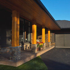 Contemporary Porch by Realstone Systems