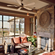 Transitional Porch by Breese Architects