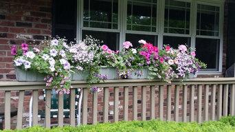 Misc. container garden pots, hummingbird, butterfly gardens