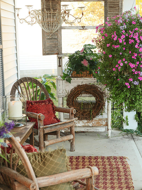 Shabby Chic Porch Home Design Ideas Pictures Remodel And