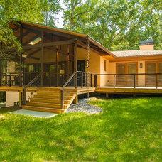 Contemporary Porch by Renewal Design-Build