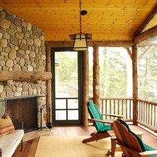 Rustic Porch by Adirondack Design