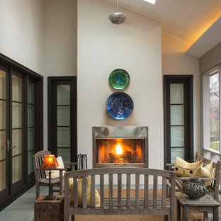 Transitional screened-in porch idea in DC Metro