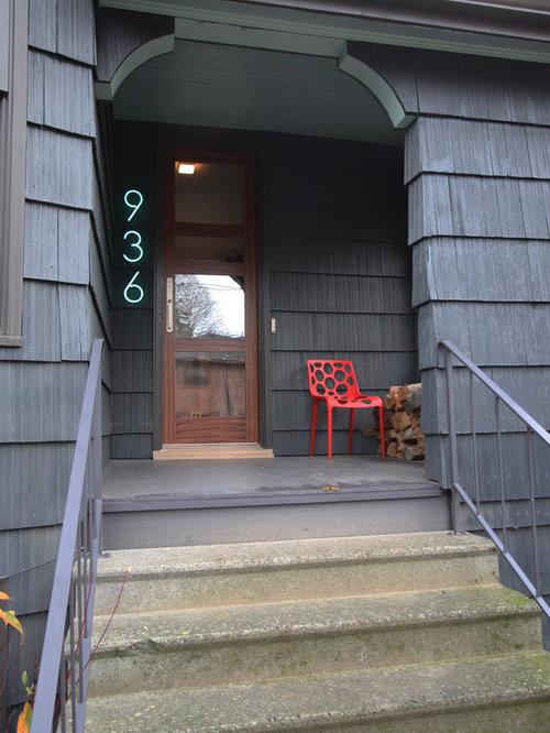 Modern house numbers light
