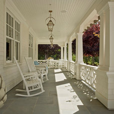 Traditional Porch by Mehus Construction