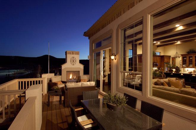 Mediterranean Porch by Godden Sudik Architects Inc