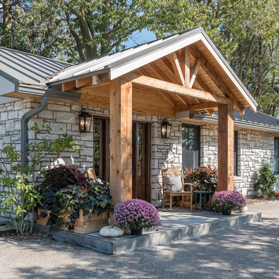 Farmhouse Porch by Anderson & Rodgers Construction