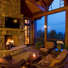 Traditional Porch by Cheryl Smith Associates