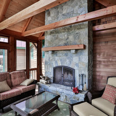 Traditional Porch by Timberpeg