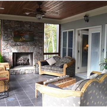 Mountain Style Ranch Home - Enclosed Porch