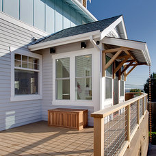 Beach Style Porch by Schulte Construction
