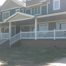 Farmhouse Porch by Byers Construction