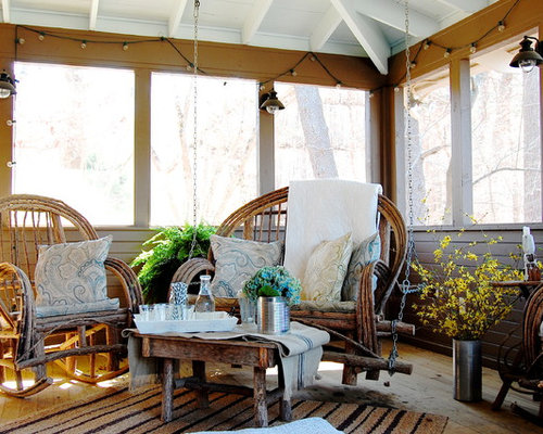 Exceptional Mountain Style Screened In Porch Photo In New York