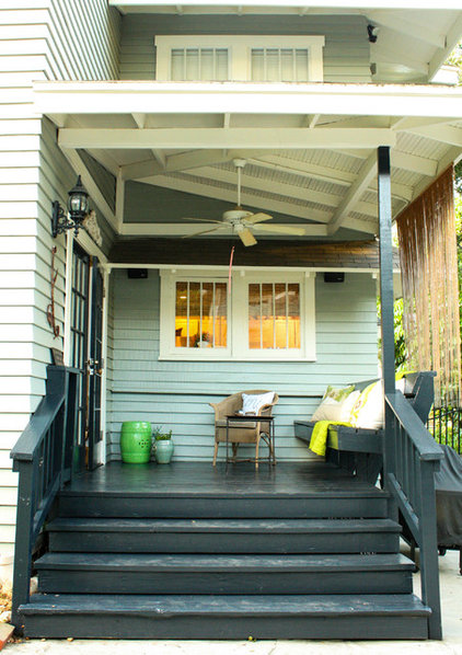 transitional porch by Mina Brinkey