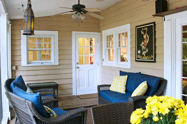 Traditional Porch by Mina Brinkey