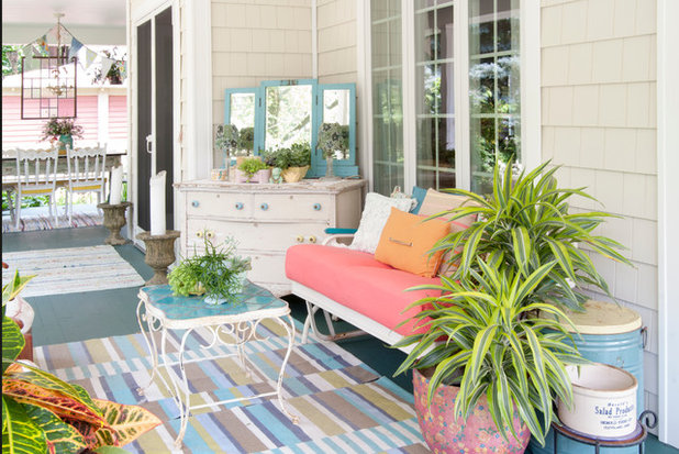 Eclectic Porch by Adrienne DeRosa