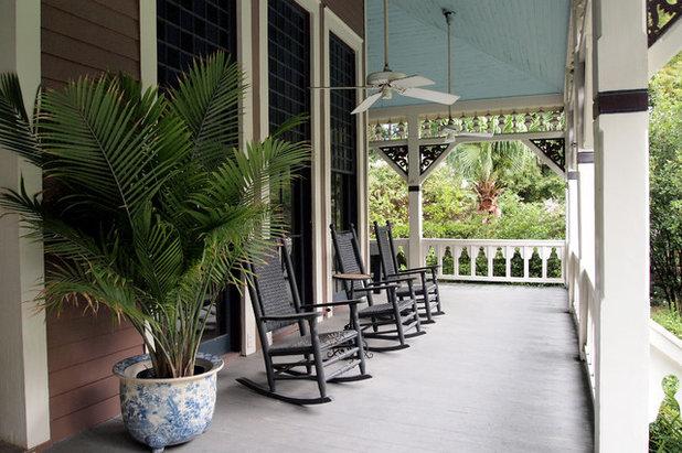 Beach Style Porch by Kayla Stark