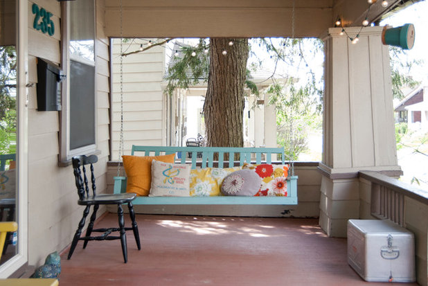 Shabby-chic Style Porch by Adrienne DeRosa