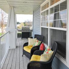 Contemporary Porch by Kirsten Danielle Design