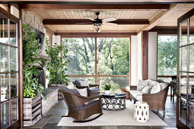 Transitional Porch by Looney Ricks Kiss