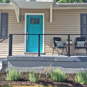 Nashville, TN: Black Aluminum Post & Top Rail with Stainless Cable Infill