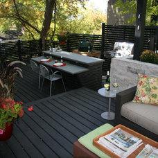 Contemporary Porch by biota - Landscape Design + Build