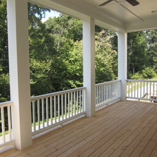 Transitional Porch by House to Home Realty Services