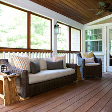 Transitional Porch by Taste Design Inc