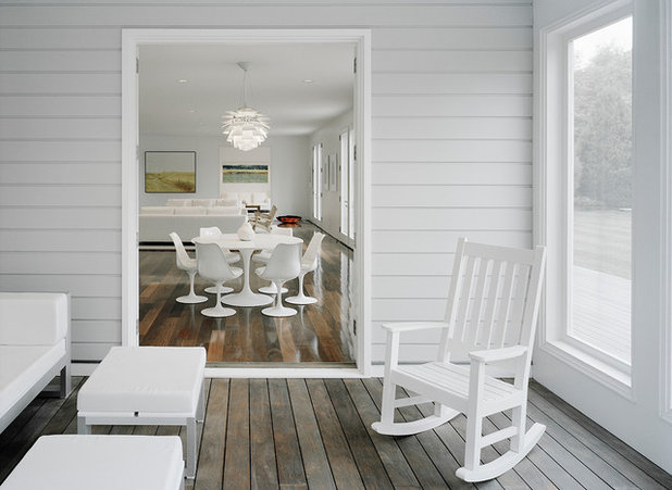 Transitional Porch by Harry Elson Architect PC
