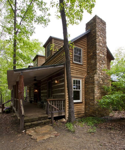 Rustic Porch by Clark & Zook Architects, LLC