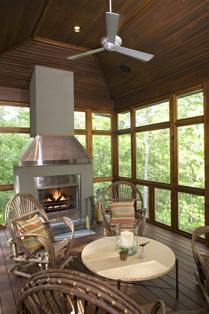 Eclectic Porch by Bob Michels Construction, Inc.