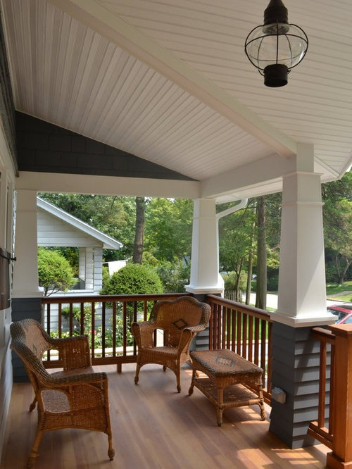 Tapered porch columns home design ideas pictures remodel for Tapered porch columns