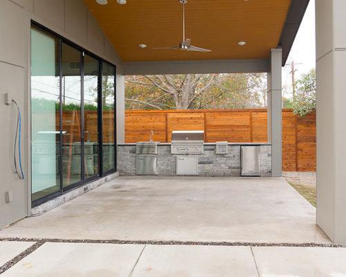 porche avec une cuisine ext rieure moderne avec une extension de toiture photos et id es d co. Black Bedroom Furniture Sets. Home Design Ideas