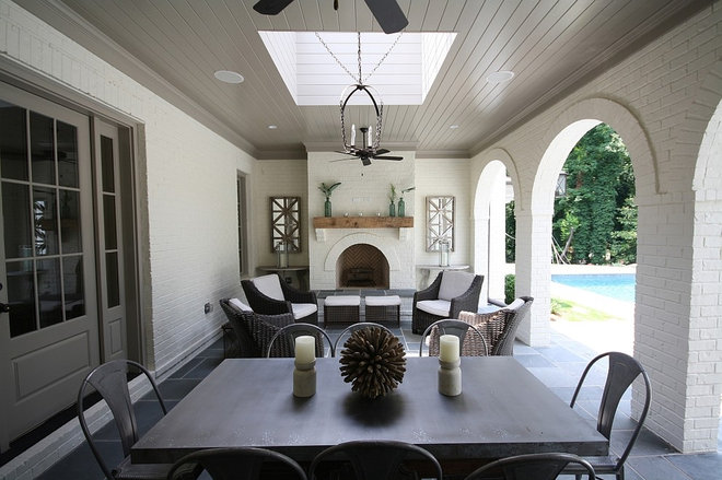 Traditional Porch by Castro Design Studio