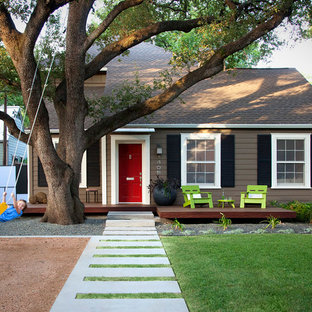 Inspiration For A Mid Sized Modern Front Porch Remodel In Austin With  Decking