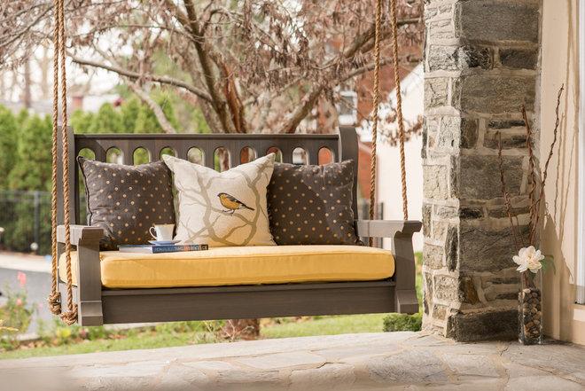 Transitional Porch by Nostalgic Porch Swing Co., LLC