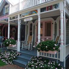 Eclectic Exterior Oak Bluffs Painted Ladies