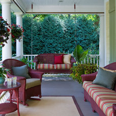 Traditional Porch by Bertrand Landscape Design